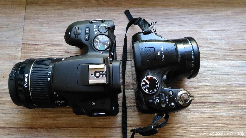 Neue Canon und alte Finepix Kamera