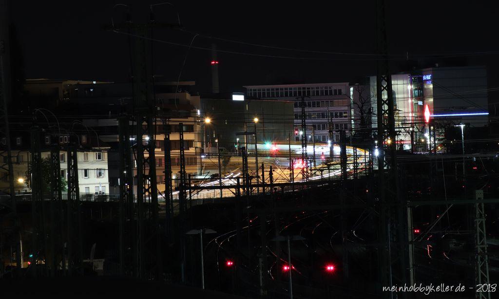 Gleisbauarbeiten bei Nacht
