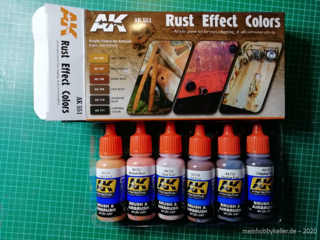 """Farben """"Rust Effect"""" von AK interactiv"""